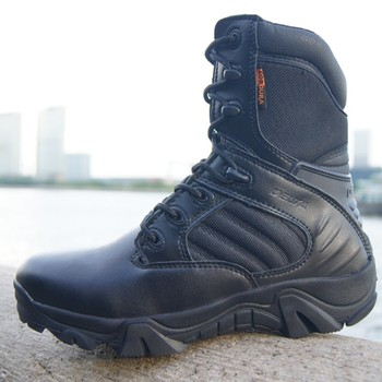 Winter Autumn Men Military Boots Quality Special Force Tactical Desert Combat Ankle Boats Army Work Shoes Leather Snow Boots 2