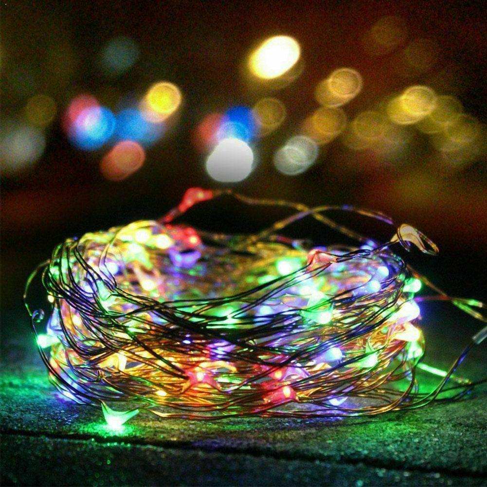Solar LED Lawn Lamp Outdoor waterproof 12m / 22m Copper Christmas String For Holiday Lights Wire solar lighting Party C3T3