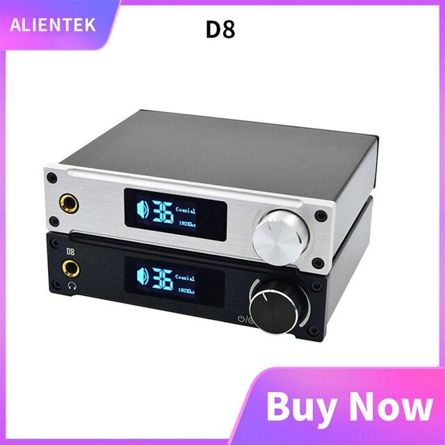 Alientek D8 Pieno di Classe D Amplificatore di Potenza Digitale USB DAC Audio ingresso Amplificatore Per Cuffie XMOS XU208 Coassiale Ottica AUX 80W