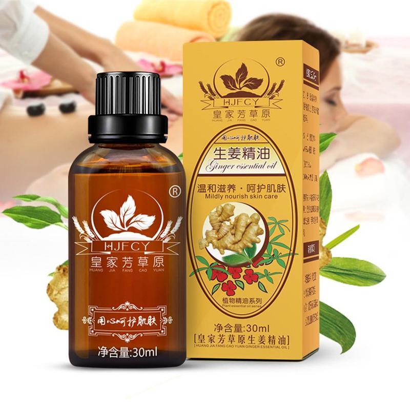 30ml Ginger Massage Compound Essential Oils Thermal Body Pure Plant Essential CBD Oil For Scrape Therapy SPA Huile Essentielle