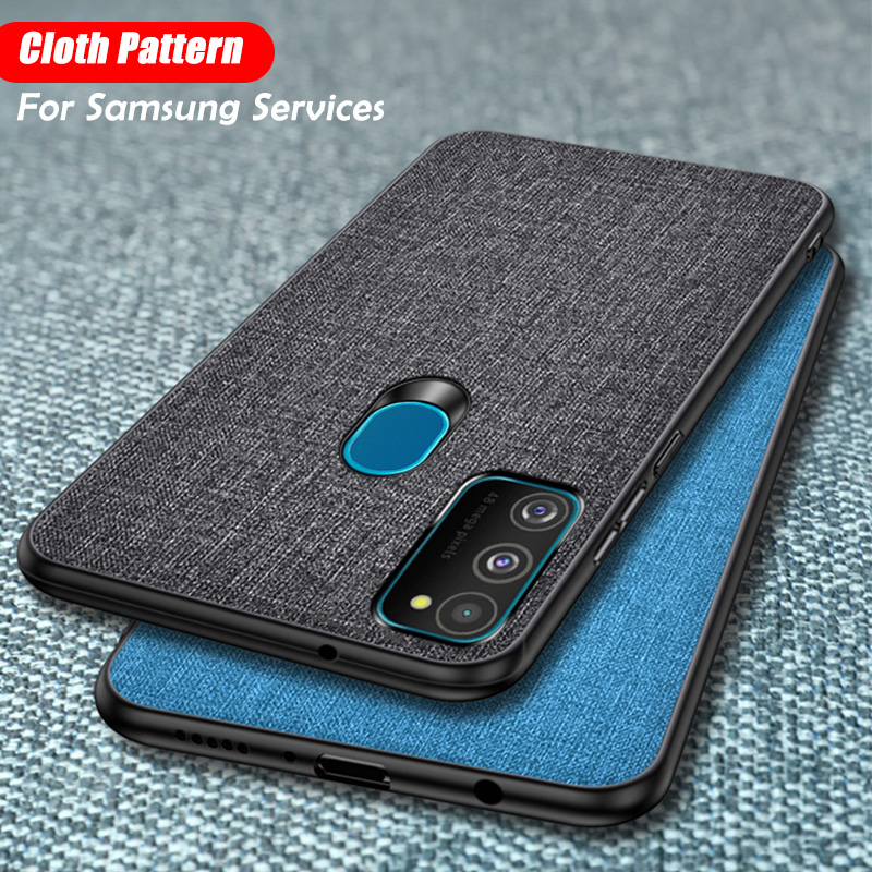 Cloth Texture Phone <font><b>Case</b></font> For <font><b>Samsung</b></font> Galaxy S20 Ultra S10E S9 S8 J4 <font><b>J6</b></font> A7 A9 A8 A6 Plus <font><b>2018</b></font> Note 8 9 10 Pro Leather Back Cover image