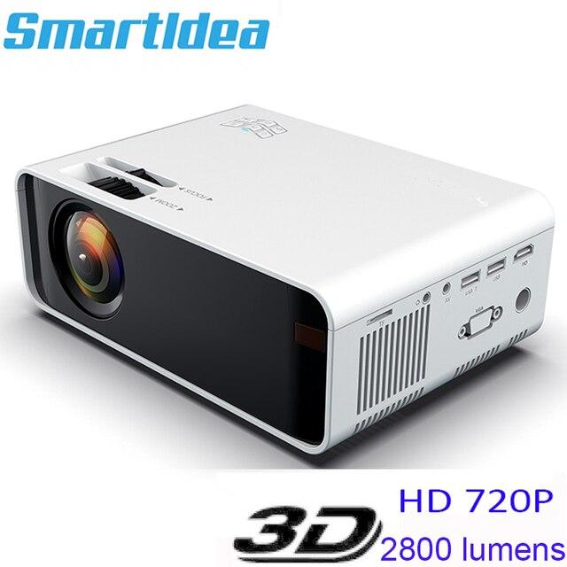 Smartldea الأصلي HD 1280x720P جهاز عرض صغير LED السينما المنزلية متعاطي المخدرات ac3 دولبي فيلم لعبة فيديو Proyector أندرويد واي فاي الخيار