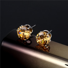 1 Pair Korean Style Fashionable Ear Stud Elegant Crystal Earrings Women Exquisite Ear Stud Gift exquisite elegant style rhinestone embellished square shape women s stud earrings