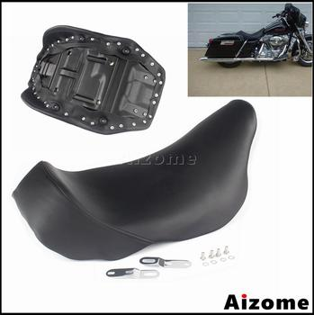 Motorcycle Seat Saddle For Harley Touring Street Glide Road King Electra Glide Road Glide Retro Front Driver Solo Seat 2008-2020 motorcycle driver passenger seat for harley touring electra road king street glide road glide ultra limited flhr 2009 2020