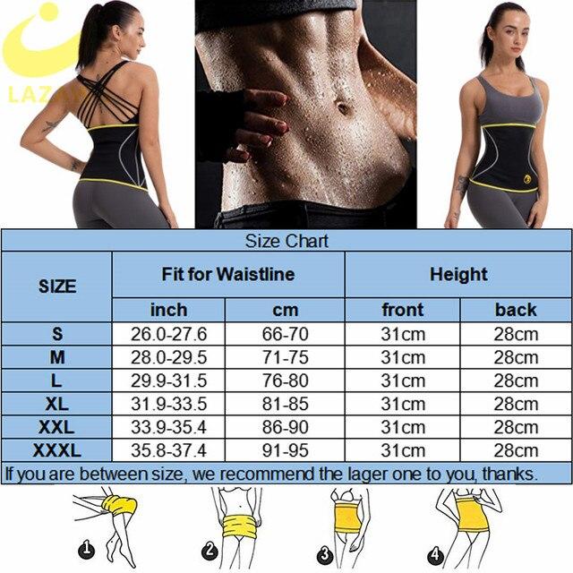 LAZAWG Women Waist Trainer Hot Neoprene Belt Sauna Sweat Cincher Slimming Strap Body Shaper Tummy Control Fajas Fat Burn Corset 5