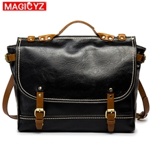 2020 New Style Retro male bag Crazy Horse PU Leather crossbody Bag Hand Men's Briefcase bags Cool Shoulder Messenger Bag man canvas with crazy horse luxury cowboy oil skin leather bags briefcases and male bag retro single shoulder bag messenger bag