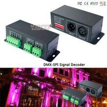 Controlador led LT DMX 1809 decodificador DMX; DMX SPI Conversor de señal, soporte TM1804/TM1809/WS2811/WS2812B etc