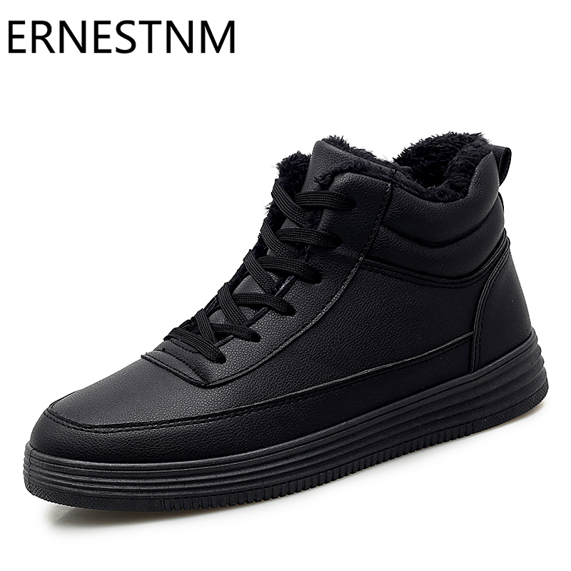 ERNESTNM Sneakers Women Winter Warm Short Plush Shoes Woman Fashion White Chunky High Top Lover Shoes Size11 Zapatillas Mujer