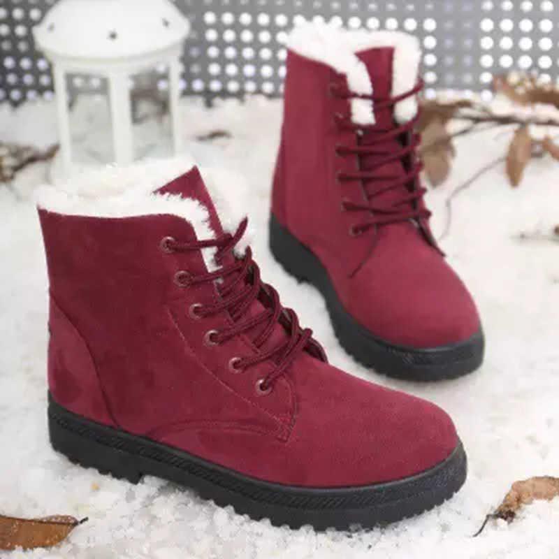 Frauen Stiefel Winter Stiefeletten Für Frauen Winter Schuhe Weiblichen Schnee Stiefel Botas Mujer Warm Plüsch Schuhe Frau Plus Größe 44