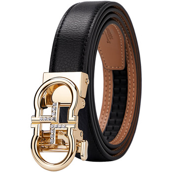 WilliamPolo 2021 new style Genuine leather WoMen Belt Fashion alloy high quality luxury cowhide casual business Automatic Buckle 2