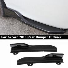 Car Rear Bumper Lip Cover Trim, for Honda Accord 2018 Diffuser Splitter Spoiler Scratch Protector, Carbon Fiber