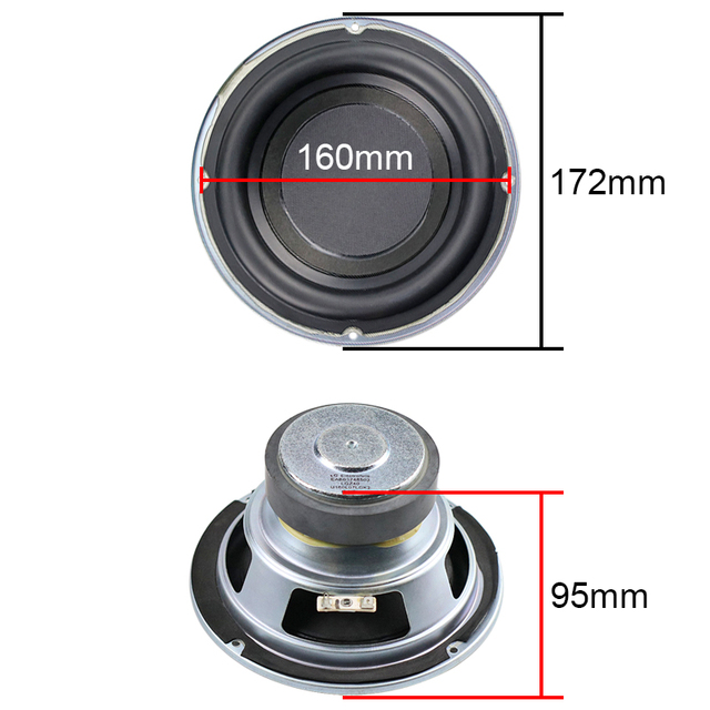 6.5 inch Subwoofer Speaker 4ohm 100W Woofer 6