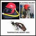 ABS Защитная пескоструйная Пылезащитная маска для шлема с регулировкой температуры