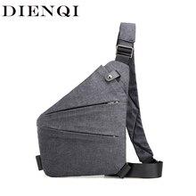DIENQI Man Thin Personal Pocket Bag Holster Tactical Shoulder Sling Vintage Cros