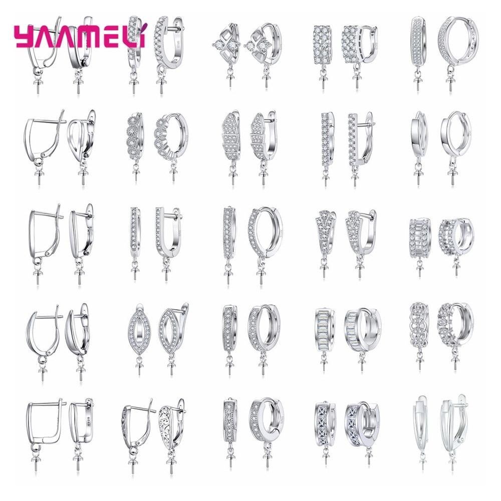 ¡Gran venta! Pendientes de plata de ley 925 de increíble calidad DIY, accesorios para joyería, accesorios para pendientes, abalorios de perlas de cristal