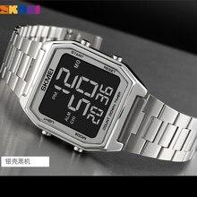 SKMEI 2 Time Men orologi sportivi digitali marca conto alla rovescia cronometro moda LED orologio da polso elettronico uomo Reloj Hombre