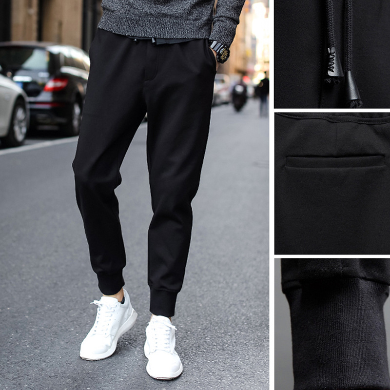 Athletic Pants MEN'S Trousers Spring And Autumn New Style Casual Pants Men's Loose-Fit Youth Elasticity Workers Gong Ku