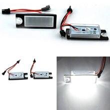 2 pces led luzes da placa de licença 18 número do carro leved luz da lâmpada da placa de licença para volvo s80 99-06 s60 v70 xc70 xc90 acessórios do carro