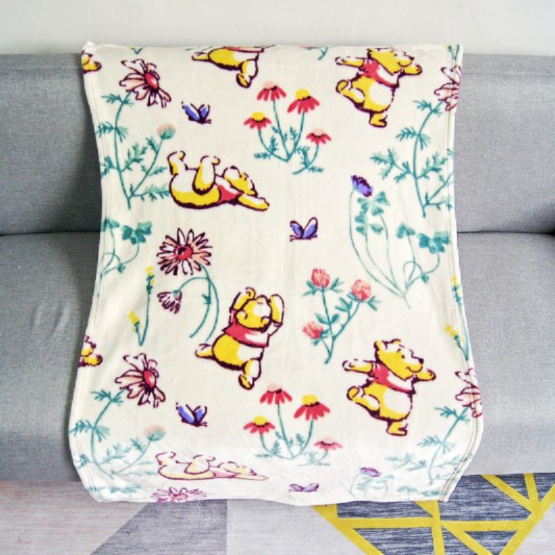 Disney Winnie Minnie Mickey Mouse Children Birthday Gift Mini Soft Flannel Blanket Baby Swaddle Wrap 70x100cm For Kids Pet