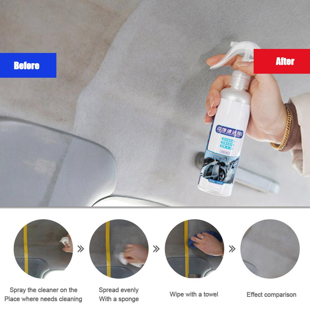 Car Interior Cleaner Agent Roof Fabric Flannel Leather Seat Car Seat Cleaning Wax Cleaner Coating Polishing Spraying Wax Leather
