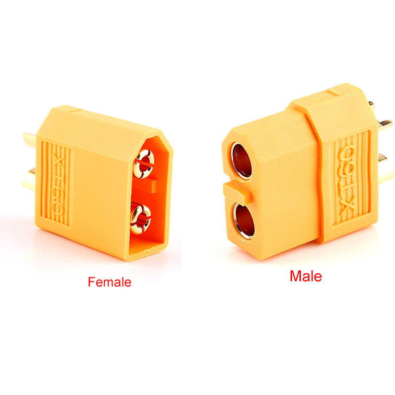 100pcs XT60 bullet connector plug for Lipo battery thermal male and female Plugs For RC Quadcopter FPV Racing Drone  Tinywhoop