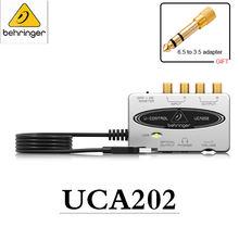 Внешняя звуковая карта behringer uca202 портативная звукозаписывающая