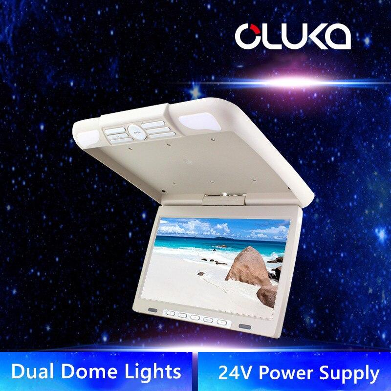 14,1 дюймов бизнес автомобильный держатель на крышу вращающийся монитор откидной экран OSD язык ЖК TFT цифровой широкий экран мониторы - 3