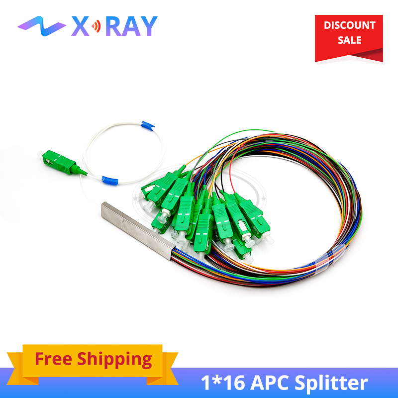 1x16 SM SC APC PLC Fiber Splitter pigtail optic splitter