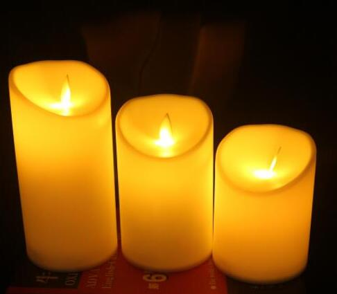 Flameless LED Candle Lamp Swing Flame Yellow LED Candle Operated Night Lights Wedding Party Home Decoration
