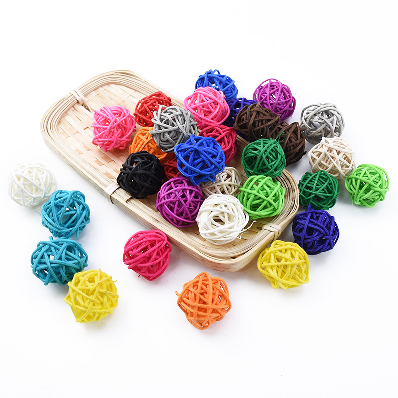 10pcs Star Sepak Takraw DIY Rattan Ball Christmas Birthday Party Home Wedding Party Ornaments Decoration Supplies Kids Gifts Box