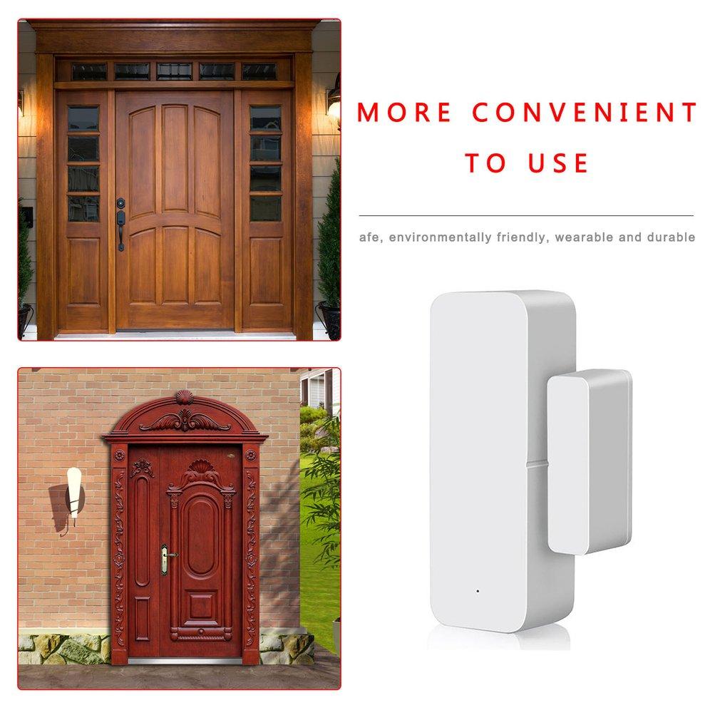 Smart WiFi Door Sensor For Tuya Door Open Or Closed Detectors WiFi App Notification Alert Alarm Lighting Automation