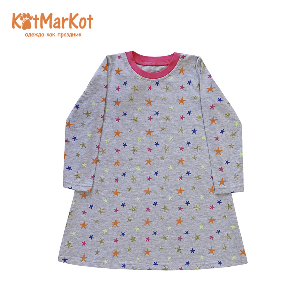 Фото - Dresses Kotmarkot 21767 shirt baby dress for a girl tunic summer  Cotton Casual plus lace insert floral tunic dress