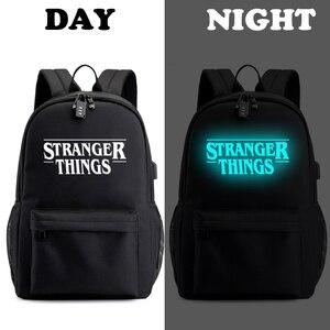 Image 2 - Étranger choses adolescent sac à dos pour garçons filles lumineux sac décole USB charge Anti vol et étanche sac à dos pour lécole