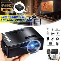 UC18 светодиодный проектор Full HD 1080P домашний кинотеатр проектор Мини проектор с HDMI AV SD для домашнего кинотеатра