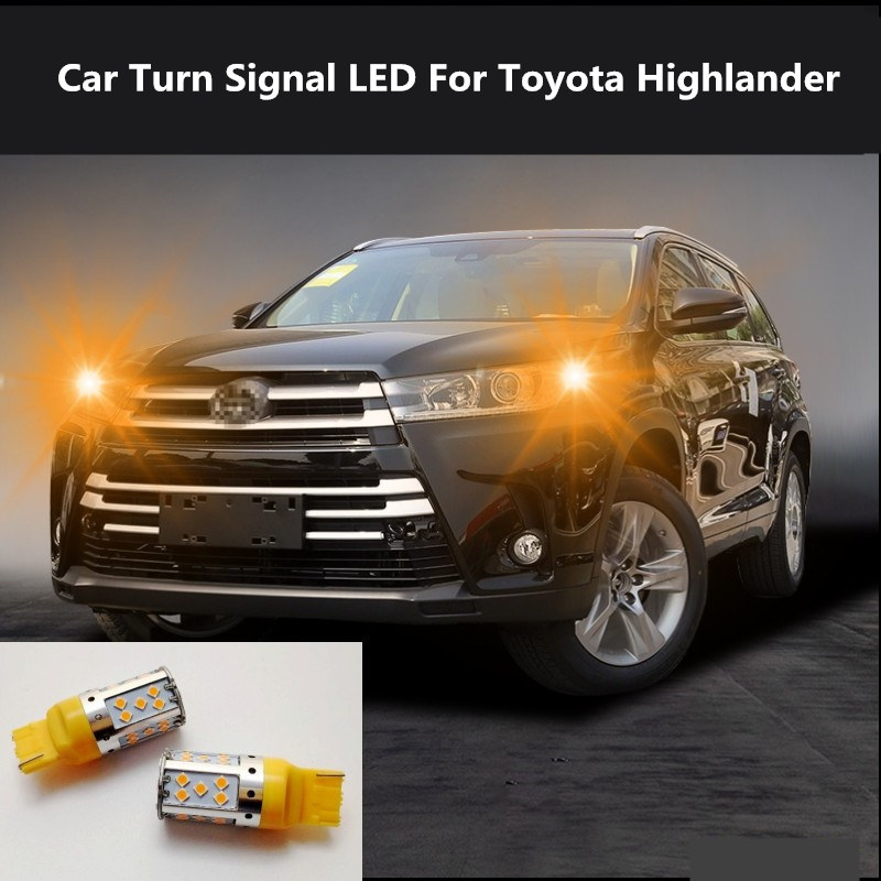 2PCS Car Turn Signal LED Command light headlight modification For Toyota Highlander 2009-2020 12V 10W 6000K