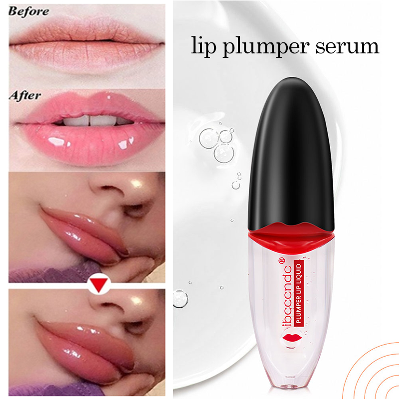 5ml Lip Plumper Gel Lips Care Serum Lip Essential Oil Increase Lip Elasticity Reduce Fine Lines Clear Lip Gloss Cover Top Coat