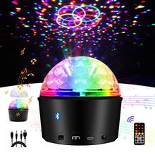 Led Stage lights Sound Activated Disco Ball with Remote Control 9 Colors Lights Wireless Phone Connection DJ Party