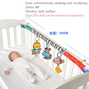 Image 2 - babies musical mobile for crib plush toys arc on the bed toddlers rattle newborn baby boy girl toy for stroller kids 0 12 months