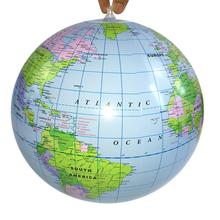 Toy Ball Geography Learning Inflatable Globe 40cm World-Earth-Ocean Educational Kids
