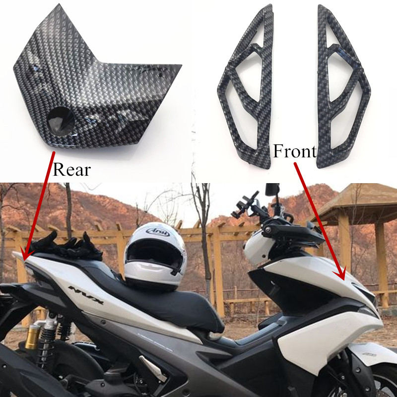 Modified Motorcycle nvx carbon front rear tail lamp turn signal lamp shield cover shell for yamaha nvx155 aerox155 gdr155 l155