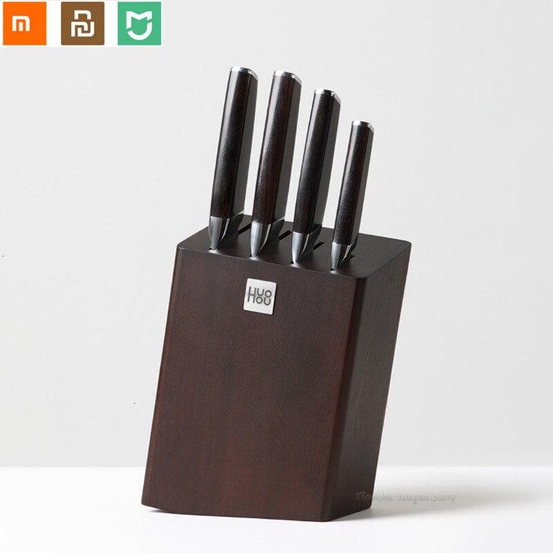 5 sztuk/zestaw Huohou kompozytowe stali nierdzewnej nóż uniwersalny ze stali nierdzewnej nóż kuchenny do krojenia szefa kuchni posiekane kości od Xiaomi youpin w Zestawy noży od Dom i ogród na  Grupa 1