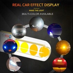 Image 5 - 100 قطعة T10 LED W5W مزدوجة اللون ستروب LED فلاش LED 194 168 W5W COB 8SMD Led وقوف السيارات لمبة إسفين التخليص مصباح CANBUS