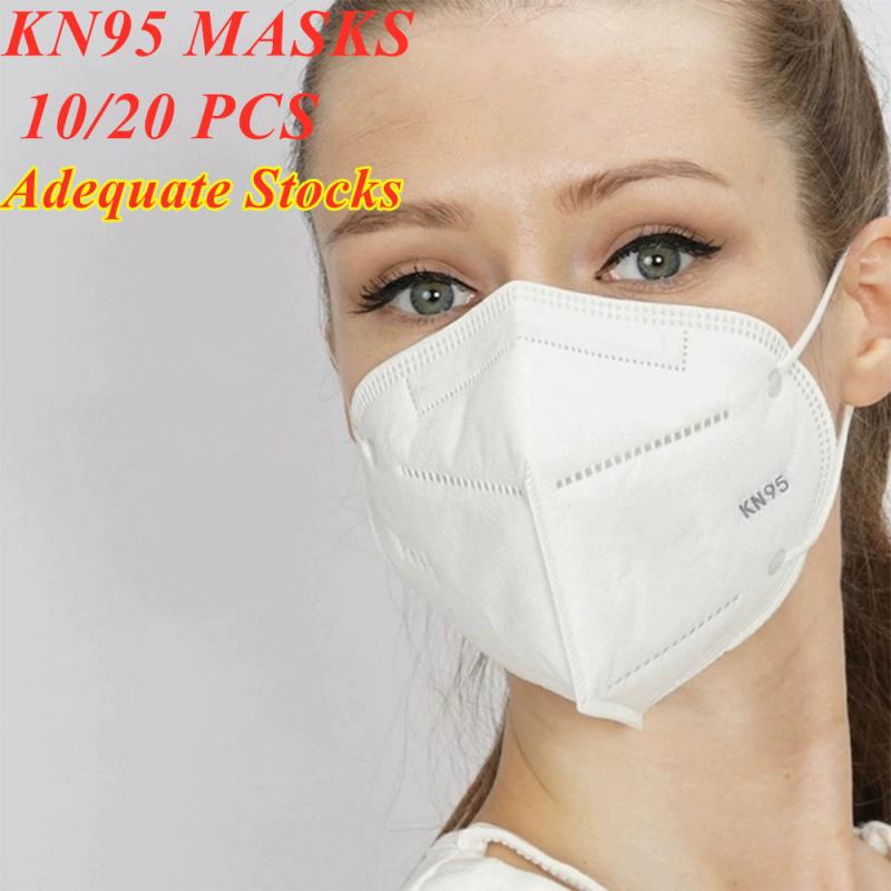 10/20pcs Breathable FFP3 Mask Anti Dust KN95 Mask-Valved Face N99 Respirator Reusable For Using Protection Sanitary Conveniet