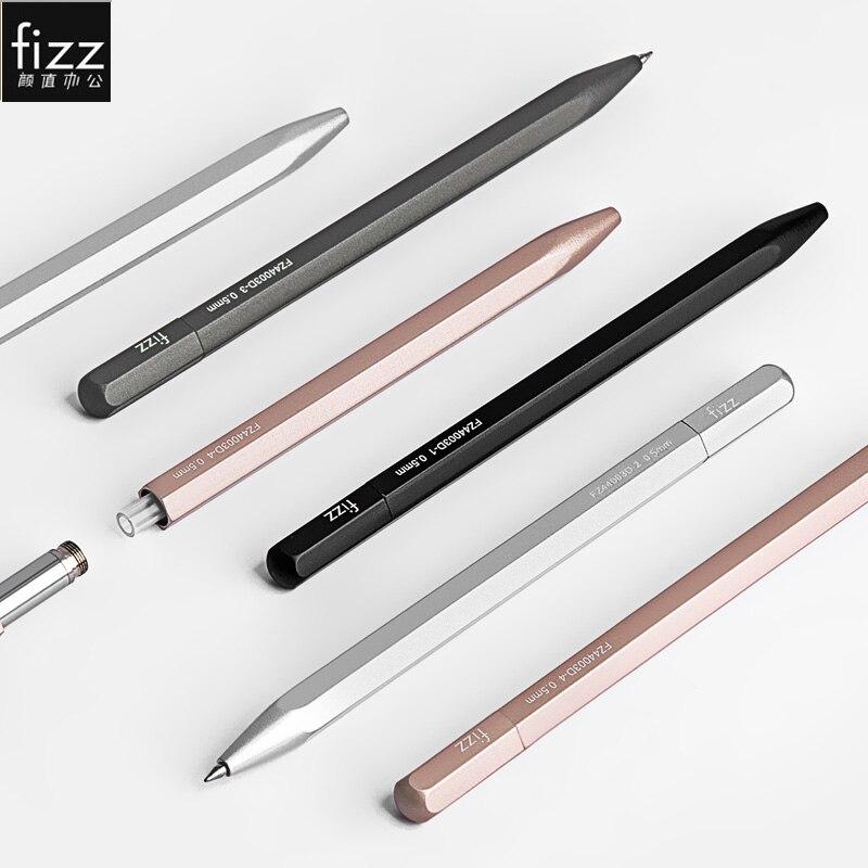 Fizz металлическая табличка с 0,5 мм черные гелевые ручки для офиса конференц Бизнес для школы канцелярские ручки/KACO гелевая ручка заправки за...