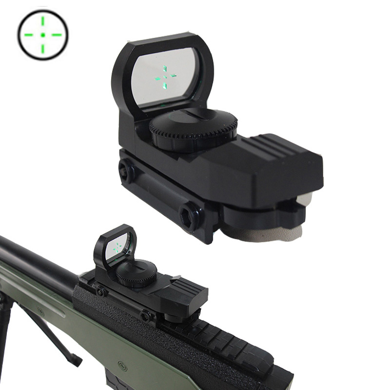 Avcılık 20mm yeşil nokta Sight refleks Reticle ray tüfek kapsam optik holografik Airsoft taktik kapsam kolimatör Sight oyuncak