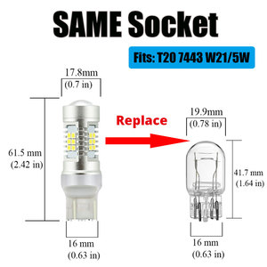Image 4 - VANSSI T20 7443 7444 W21/5W LED Bulbs For Lada Vesta Granta Kalina Accessories Front Dimension Light Lamp White Amber Yellow Red