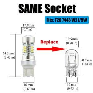 Image 4 - Vanssi T20 7443 7444 W21/5W Led Lampen Voor Lada Vesta Granta Kalina Accessoires Front Dimensie Licht Lamp wit Amber Geel Rood
