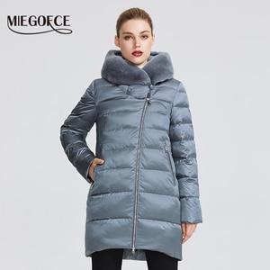 Image 2 - MIEGOFCE 2020 חורף נשים של אוסף נשים של מעיל חם מעיל חורף Windproof Stand Up צווארון עם הוד ו ארנב פרווה Parka