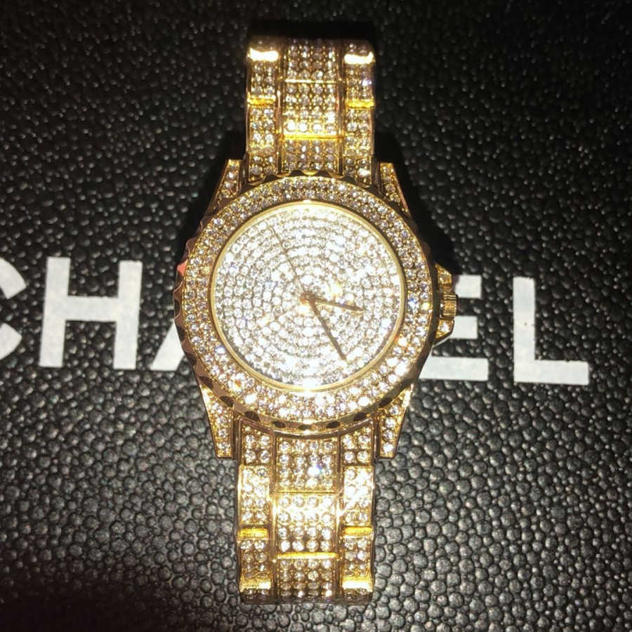 Completo, de lujo dimoand las mujeres relojes de moda de reloj de diamantes de imitación de cristal de Austria reloj de mujer de pulsera de cuarzo vestido de dama Relojes