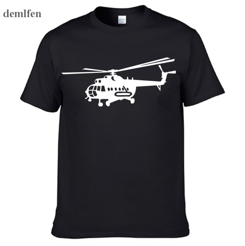 Summer Style Brand New Male T Shirts Novelty MI-8 Helicopter USSR Victory Day Print T-shirt Short Sleeve Cotton Tee Shirts
